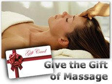 Give the Gift Of Massage. Click here to purchase a gift certificate online.